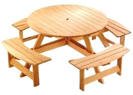 round wooden picnic table round picnic table plans superb round cedar patio table plans wooden picnic