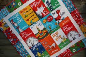 Baby Quilt Dr Seuss Book Titles Cat in the Hat Lorax Baby & 🔎zoom Adamdwight.com