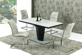 dining tables round glass dining table and chairs large small extending grey stone effect 6