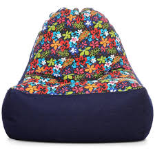 style homez urban design denim canvas fl printed chair bean bag l size cover only bean bags cj