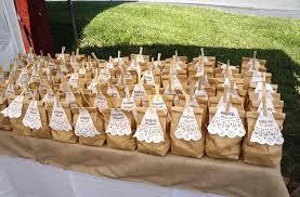 brown bag wedding favors