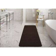 luxury gy collection solid design brown 2 ft x 5 ft runner rug