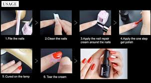 fengshangmei 4 colors diy gel polish manicure set one step gel nail polish kit with led lamp