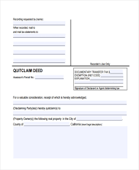 Quit Claim Deed Form Enchanting 44 Free Deed Form