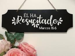 Decorative Chalkboard Sign Spanish He is Risen Hanging | Etsy