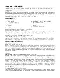 Sample Child Care Resume Sample Child Care Resume Resume For Child