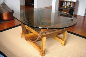 decoration coffee tables enchanting brown round modern wood boat table with glass top designs harvey
