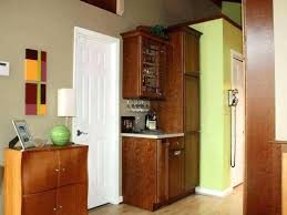 solid wood kitchen pantry cabinet wall mounted