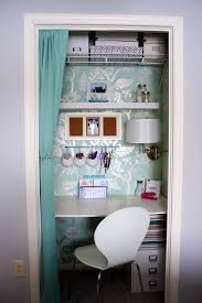 diy turn your closet into an office or desk area