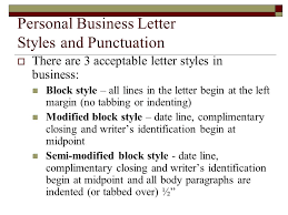Personal Business Letter Block Style Personal Business Letters And Common Documents Ppt Video Online