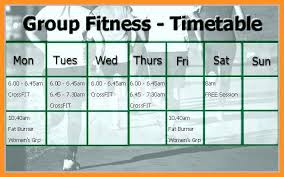 fitness timetable template 7 8 gym timetable template resumete