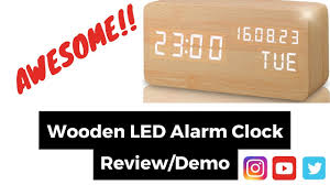 REVIEW AND DEMO OF A <b>WOODEN DIGITAL ALARM CLOCK</b> ...