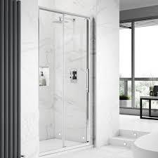 hudson reed apex sliding shower door 1200mm wide 8mm glass