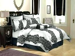 white damask bedding black and set inspirational king for