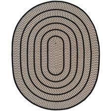 safavieh braided ivory black 8 ft x 10 ft oval area rug
