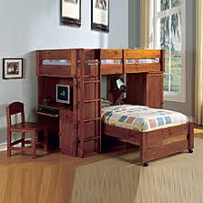 bunk bed with desk. Furniture Of America New Oak Harford Junior Desk Chair Closet Bookcase Twin Lofted Bunk Bed With