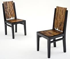These contemporary wood dining chairs are the perfect balance of