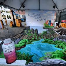 a 3d painting will always make people take a second look the reason why it works so well is it doesn t act like a floor decal although it only uses the