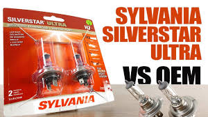 Sylvania Silverstar Ultra Vs Oem Original Headlight Bulbs Comparison