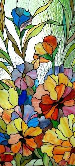 Stained Glass Flower Patterns Magnificent Stain Glass Flower Patterns Flowers Stained Glass Stained Glass