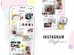 Instagram Puzzle Template Baker By Social Media Templates