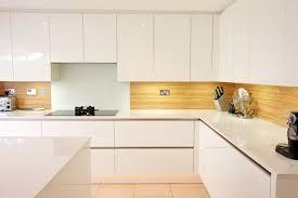 Almond wood kitchen splashback contemporary-kitchen