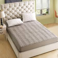 queen size mattress. SunnyRain 1 Piece Solid Color Polyester Quilted Fitted Bed Sheet Queen Size Mattress Protector Cover Pocket Depth 25cm-in From Home \u0026 Garden S