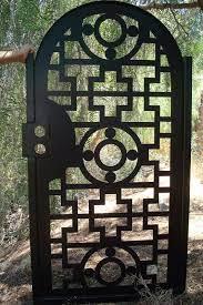 hand crafted gate metal custom