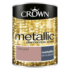 crown feature wall metallic rose gold