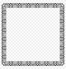 decorative ornamental frame black and white page borders printable