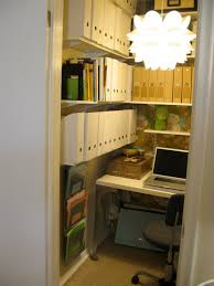 tiny office space. Tiny Office With Enough Shelving For Book And Binder Storage Space I