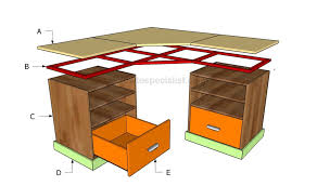 how to build a corner desk howtospecialist how to build step for corner desk plans