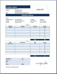 excel service customer invoice ms excel customer service invoice word business