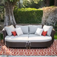 outdoor sectional metal. Outdoor Sectional Daybed Belham Living Polanco Curved Back All Weather Wicker Sofa 5 Metal