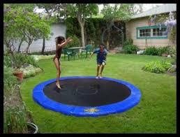 children garden. trampoline framed children garden