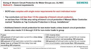 than 1 10 the rating of branch circuit protection if manual motor controller marked