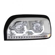 Chrome Fits Freightliner Century Projection Headlight 96 2010 Freightliner Headlights Chrome