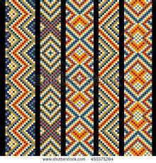Bead Weaving Patterns Beauteous Beading Design Tribal Design Tribal Beads Stock Vector Royalty Free