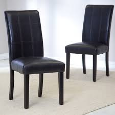 Faux Leather Parsons Dining Room Chairs Alliancemvcom - Faux leather dining room chairs