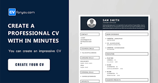 Create A Professional Cv Online Resume Creator Cv For You How To Create A Resume