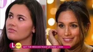 get meghan markle s no make up make up look