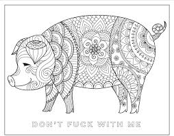 Chill The F Ck Out A Swear Word Coloring Book Hannah Caner