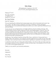 Nanny Cover Letter Cover Letter Proffesional Sample Reference Letter