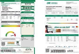Formato De Recibos Anuncia Cfe Modificaciones Al Formato Del Recibo De Luz