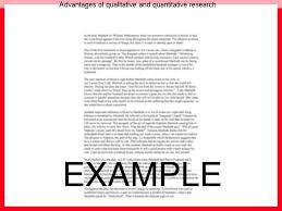 advantages of qualitative and quantitative research essay help advantages of qualitative and quantitative research what is qualitative research • understand the advantages and
