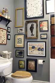 who says bathroom walls have to be boring gallery wall in a small bathroom alison liz nicole s shared space small cool contest on downstairs toilet wall art with pin by camiyuilondon on pinterest downstairs toilet