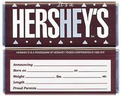hershey candy bar wrapper baby boy hersheys candy bar wrappers