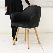 ebay uk faux leather dining chairs. eames style faux leather dining chair armchair dining/living room - black/white | ebay ebay uk faux leather dining chairs u