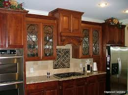 creative painted glass kitchen cabinet doors ideas