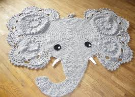 elephant rug for nursery surprising crochet decor home play interior 11